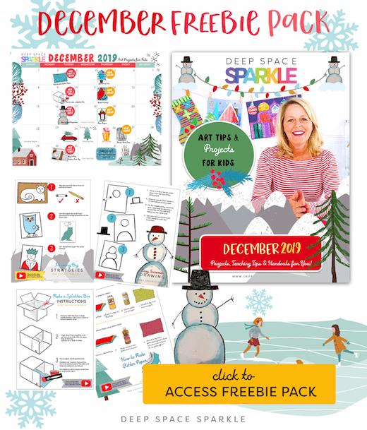 December Freebie Pack Image for your students art class