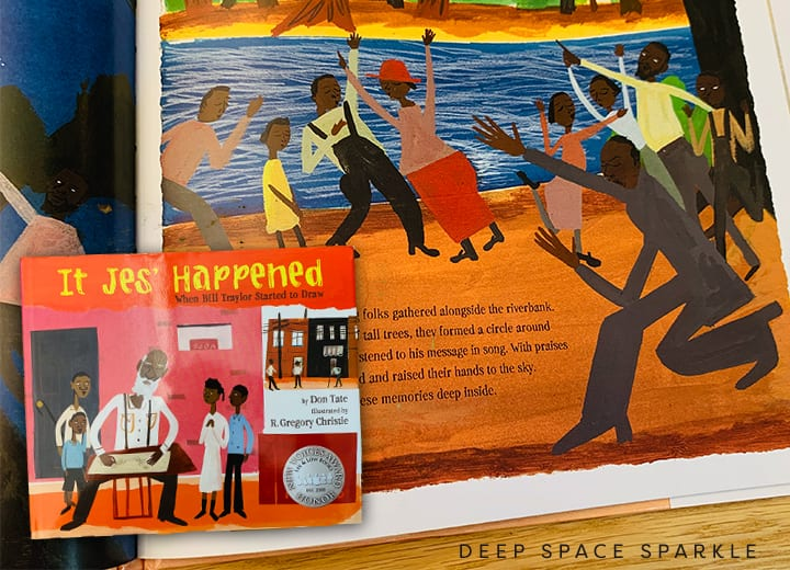 It Jes' Happened, when Bill Traylor started to draw. Black History month for kids.