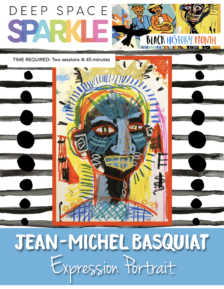 Jean- Michel Basquiat Expression Portrait for kids