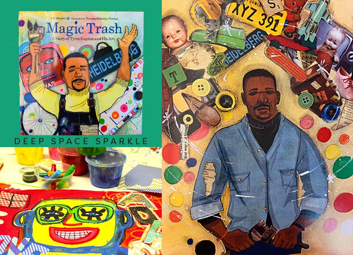 MAGIC TRASH, A Story of Tyree Guyton and His Art- Black history month for kids.