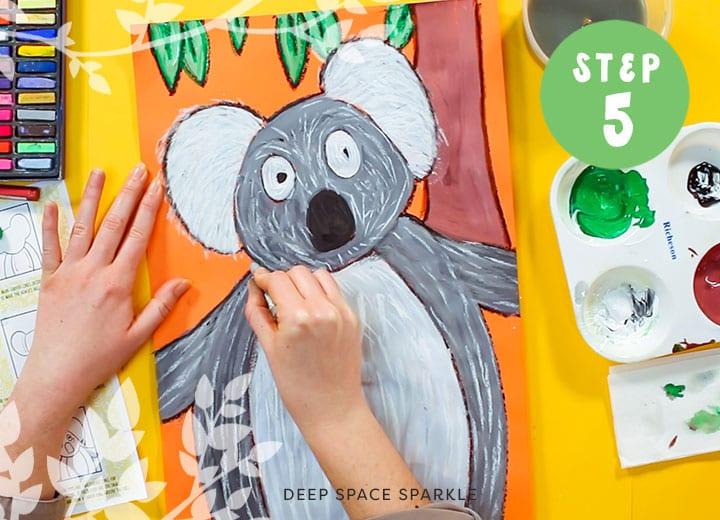 how to paint a koala australia art