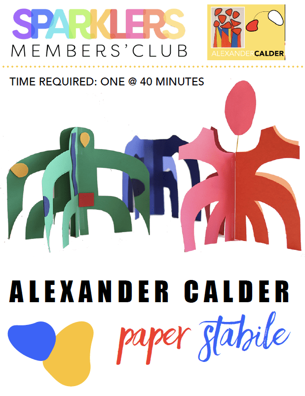 Alexander calder paper stabile art lesson plan with standards for kids product