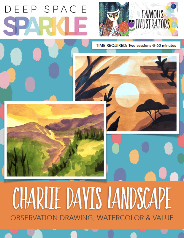 Charlie Davis landscape art lesson for 7th grade students with standards product