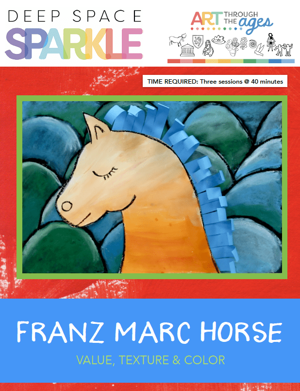 Franz Marc Horse art lesson plan for second grade with standards