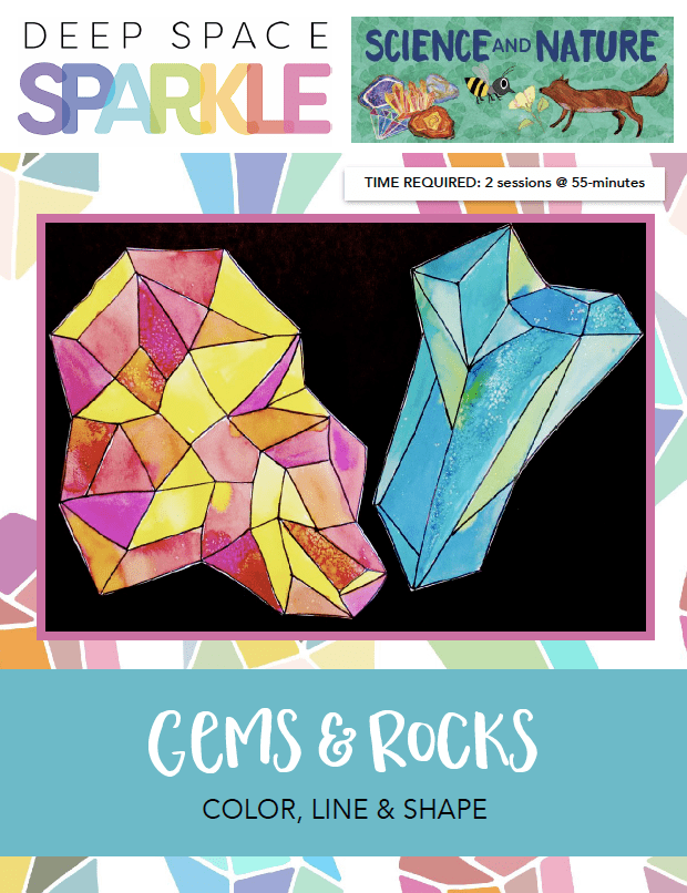 Gems and rocks product art lesson plan for kids 6th grade