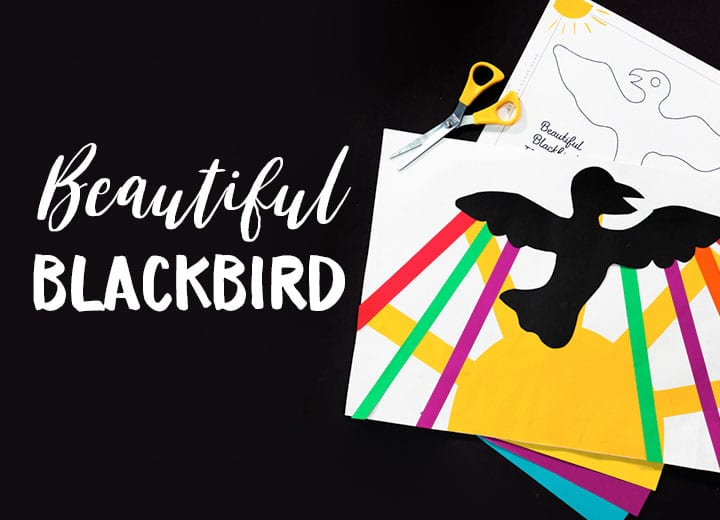 beautiful blackbird art project for kids black history month art project