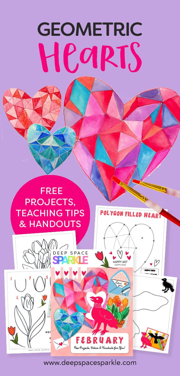 Geometric Hearts- Free projects, teaching tips and handouts