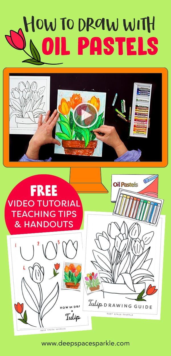 how to use oil pastels art project with video tutorial