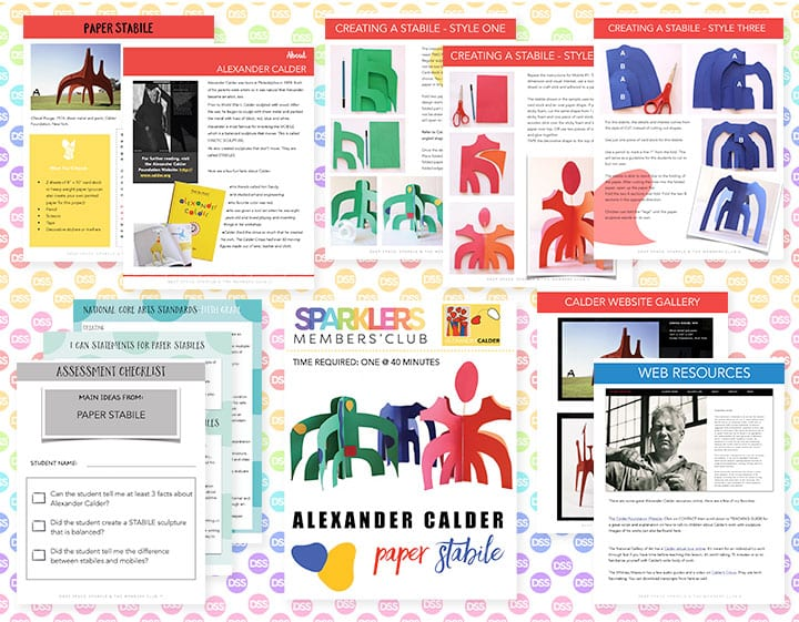 Alexander Calder art lesson plan for fifth grade with standards