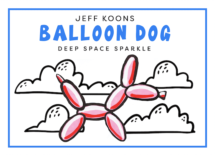 jeff koons inspired paper balloon dog art project for kids with instructional video