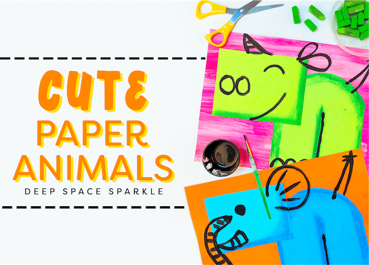 cute paper endangered animals art project with video