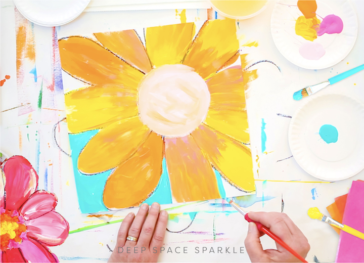 happy flowers art lessons for kids art projects at home