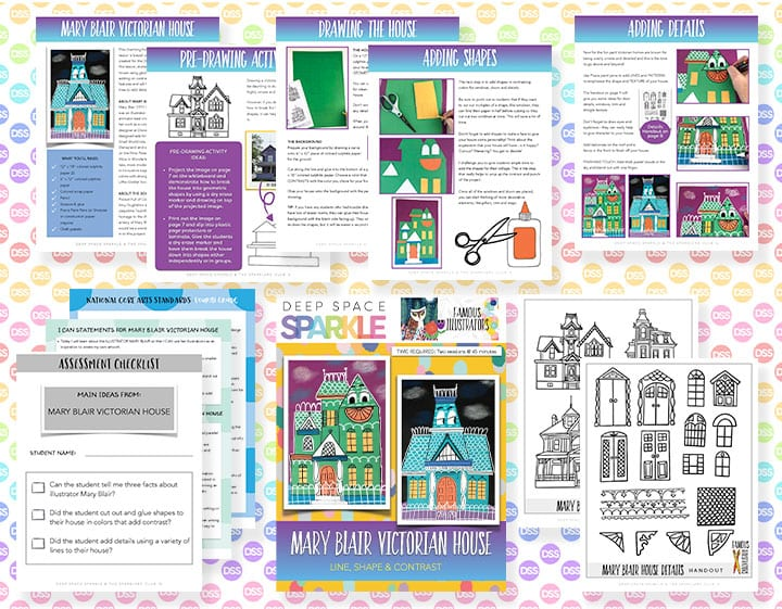 Mary Blair house art lesson plan for fourth grade students with standards