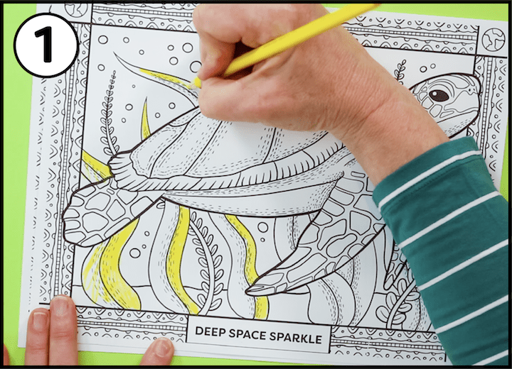 - How To Teach Kids To Use Colored Pencils Earth Day Coloring Pages Deep  Space Sparkle