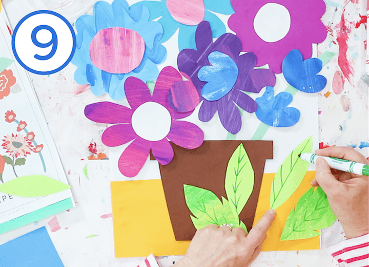 how to make a springtime paper flower bouquet art project for kids