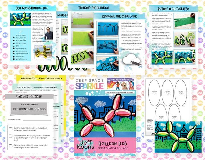 balloon dog art lesson plan with standards for kindergarten