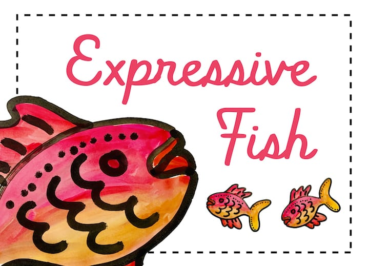 expressive fish art at home with patty for all ages