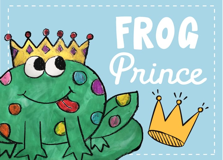 frog prince art project for kids at home art lesson draw along