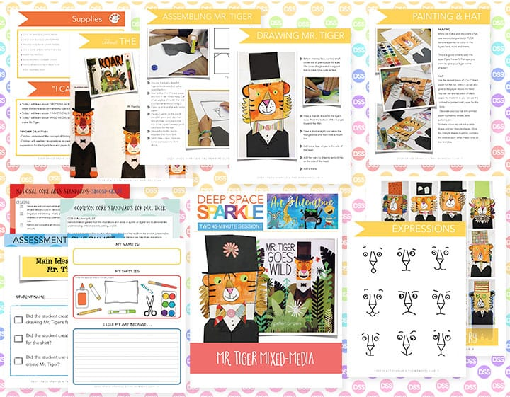 mr tiger art lesson plan for second grade students with standards