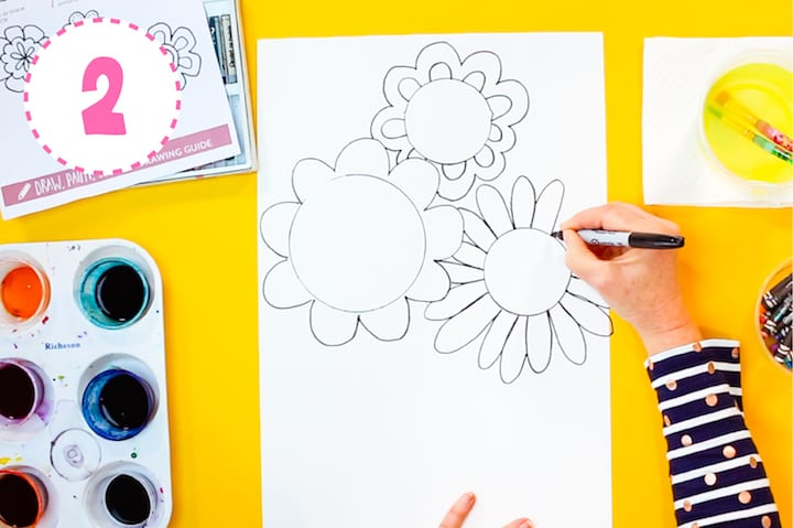 how to make your own watercolor resist flowers spingtime art projects for kids