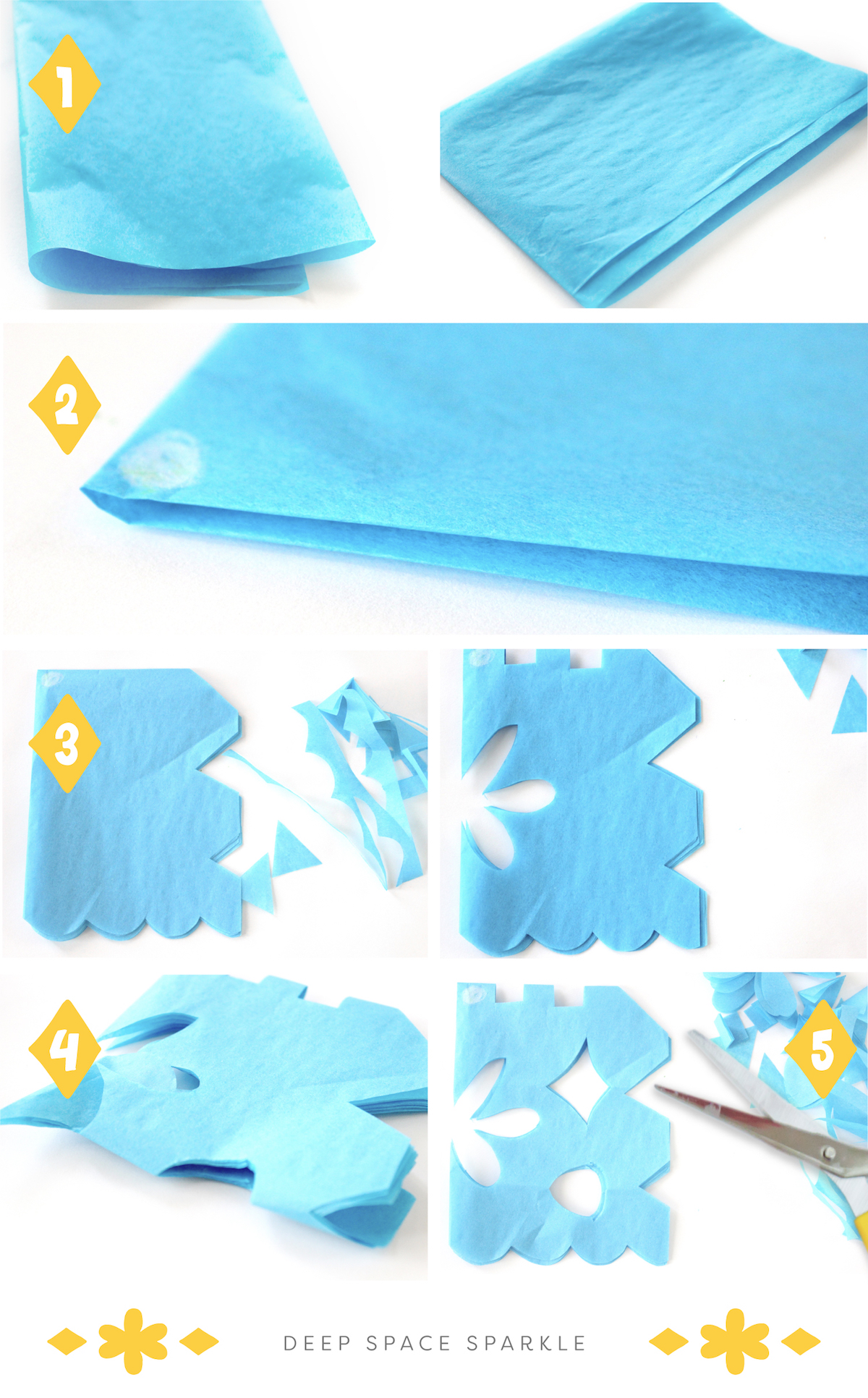How to make papel picado deep space sparkle art projects for kids with how to steps and instructions