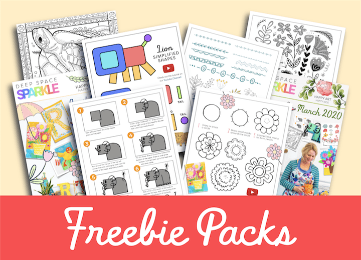 deep space sparkle freebie art lesson pack resources for kids in the art room homeschool classroom