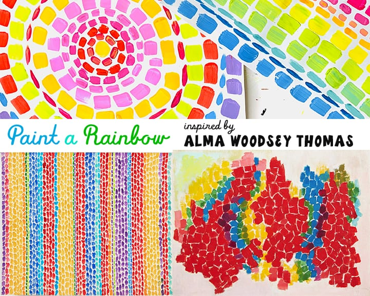 Black Artist Alma Thomas art project | painting a rainbow