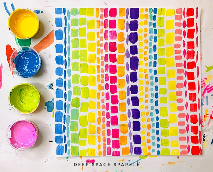 paint colors for kids art to paint a rainbow