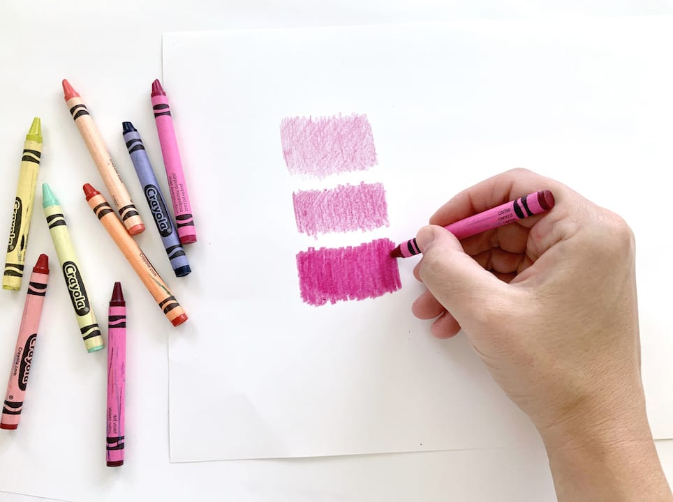 create value with crayons