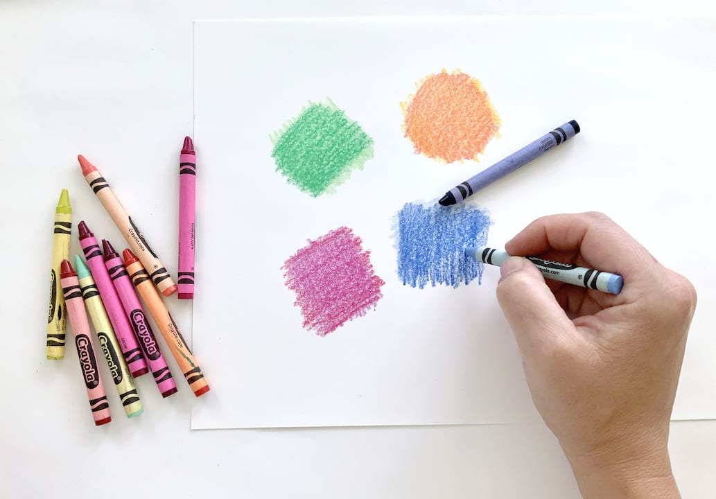 layer color with crayons