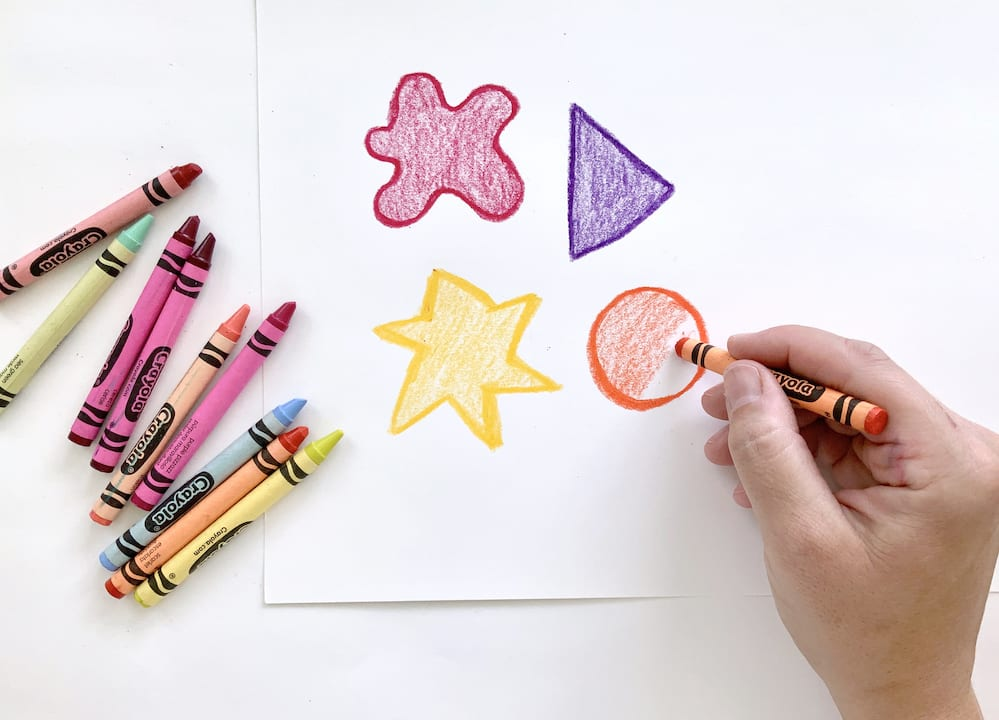 add contrast with crayons for kids art