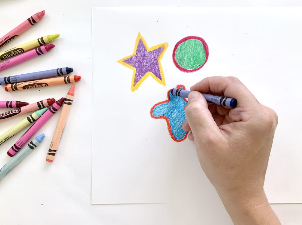 add variety with crayons kids art