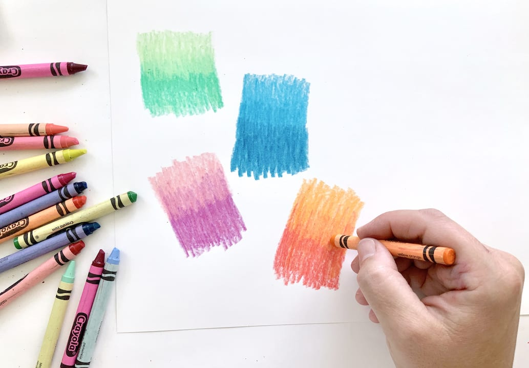 blend colors with crayons kids art