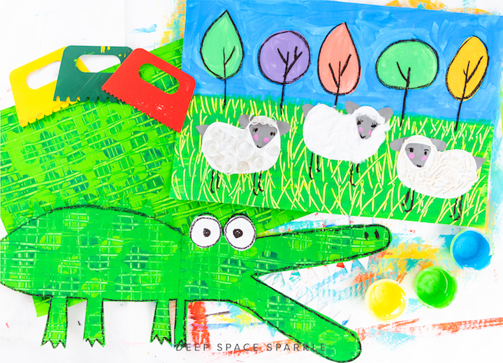 Modifying Art Lessons to Meet the Needs of Special Learners: Part III crocodile