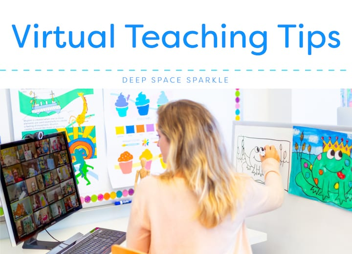 Virtual teaching tips for art teachers and students learning online