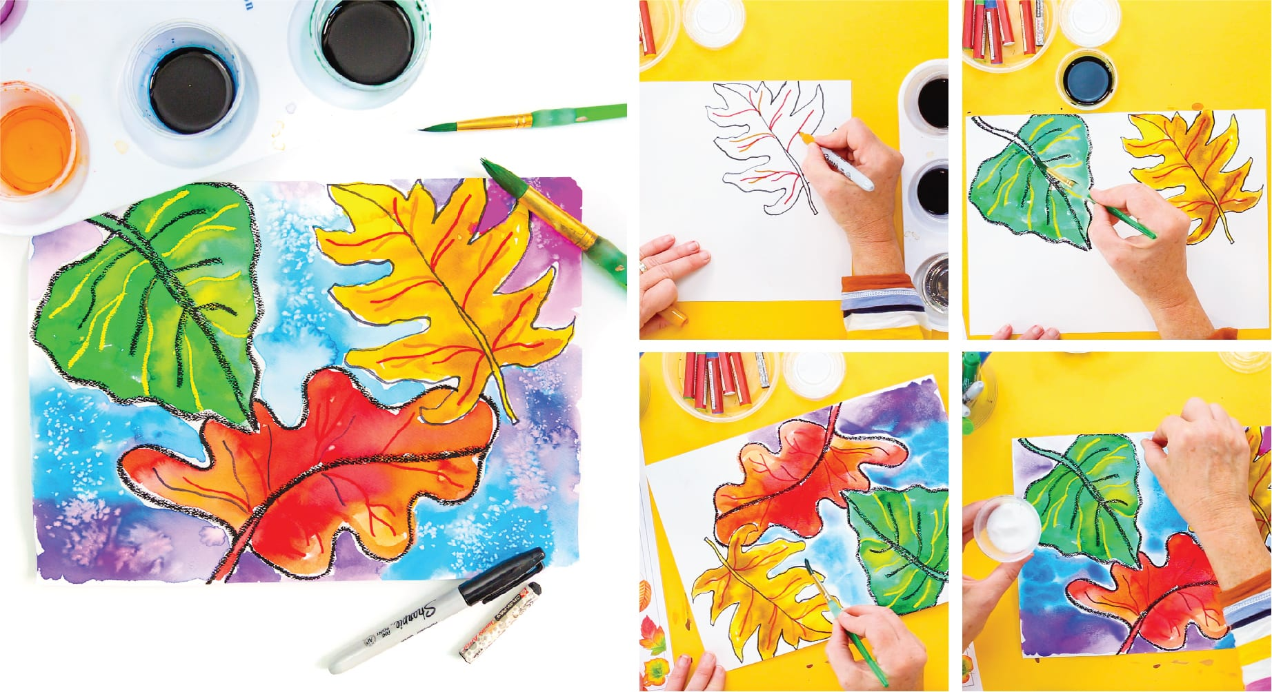 Using watercolors to teach art on a cart lesson ideas and tips