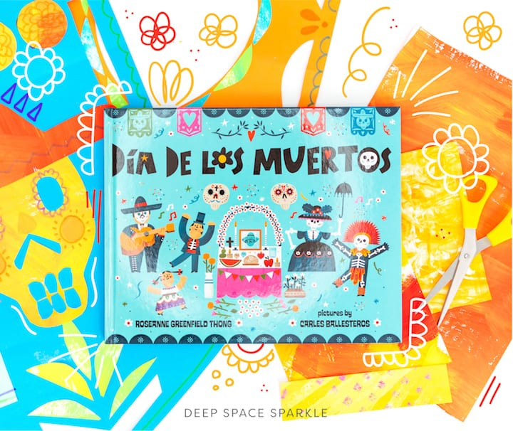 Creating a Papal Picado Collage with Painted Paper | Day of the Dead Celebration, dia de los muertos childrens book
