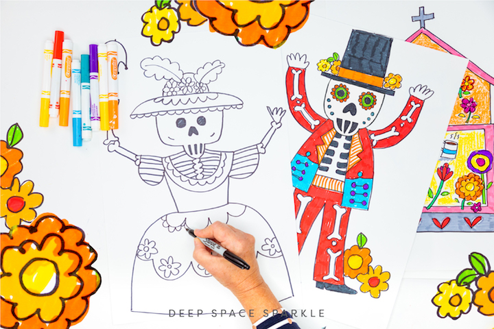 day of the dead art for the classroom catrina drawings