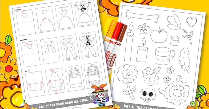 day of the dead art for the classroom catrina drawings free download drawing guide