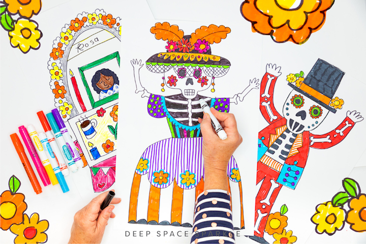 day of the dead art for the classroom catrina drawings and celebration alter