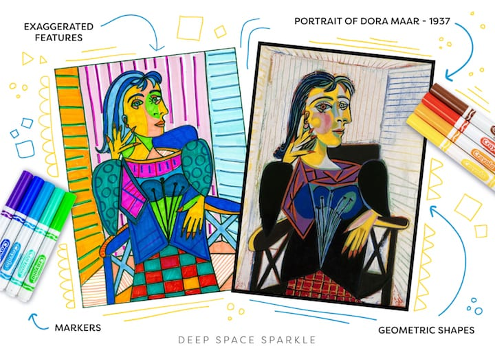 celebrating pablo picasso in your art room or classroom and portrait of Dora Maar
