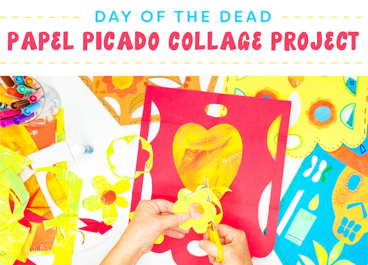 Creating a Papal Picado Collage with Painted Paper | Day of the Dead Celebration, dia de los muertos