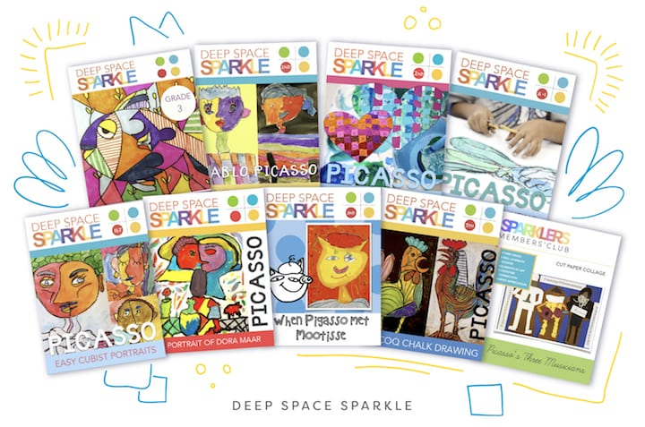Pablo Picasso bundle spread for Picasso art lessons in your art room