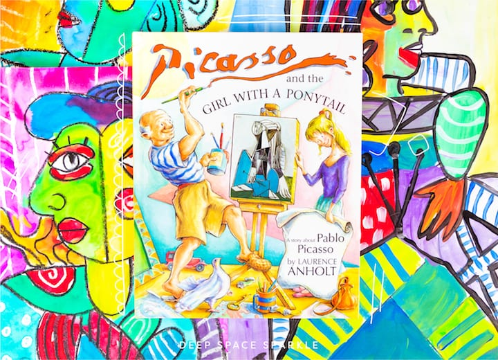 celebrating pablo picasso in your art room or classroom, picasso and the girl with the ponytail