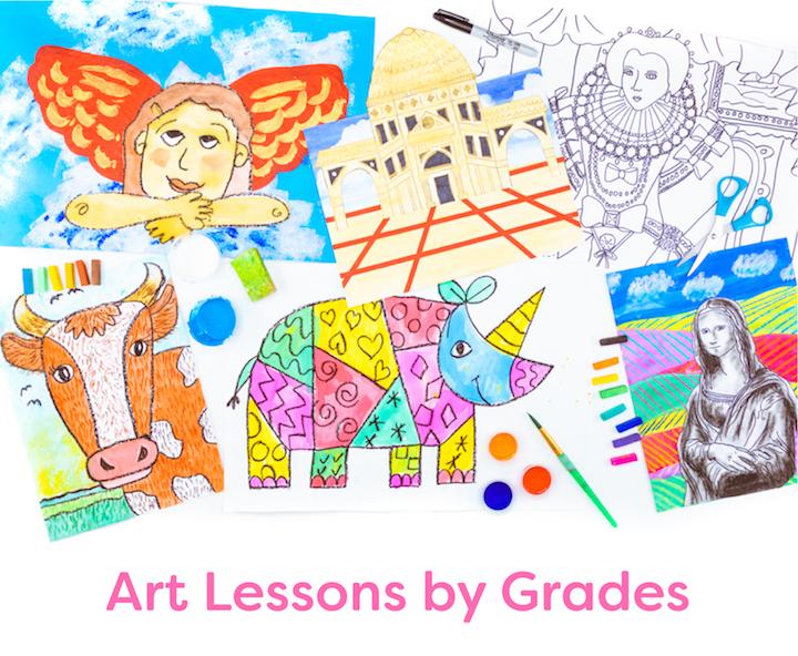 variety of art lessons by grade level