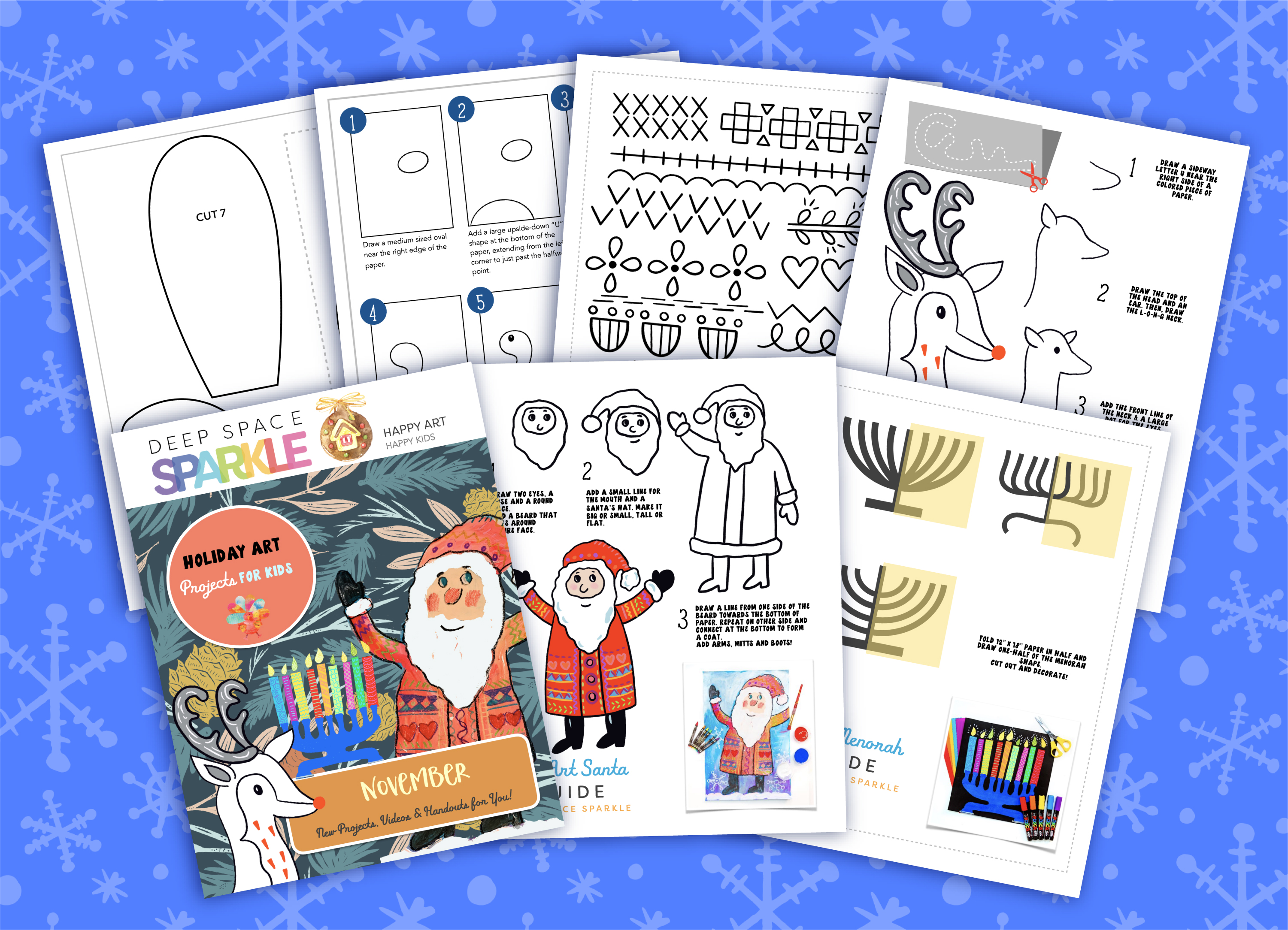 November freebie pack of holiday art lessons
