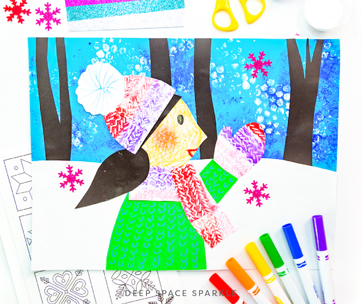 Winter Wonderland Holiday Art Packet lessons for students all grades