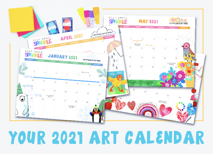 2021 deep space sparkle yearly art calendar