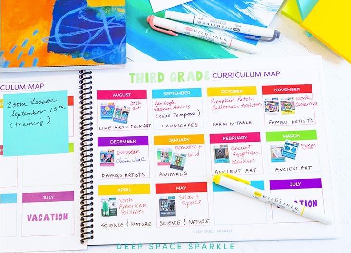 Art teacher digital planner | Deep Space Sparkle