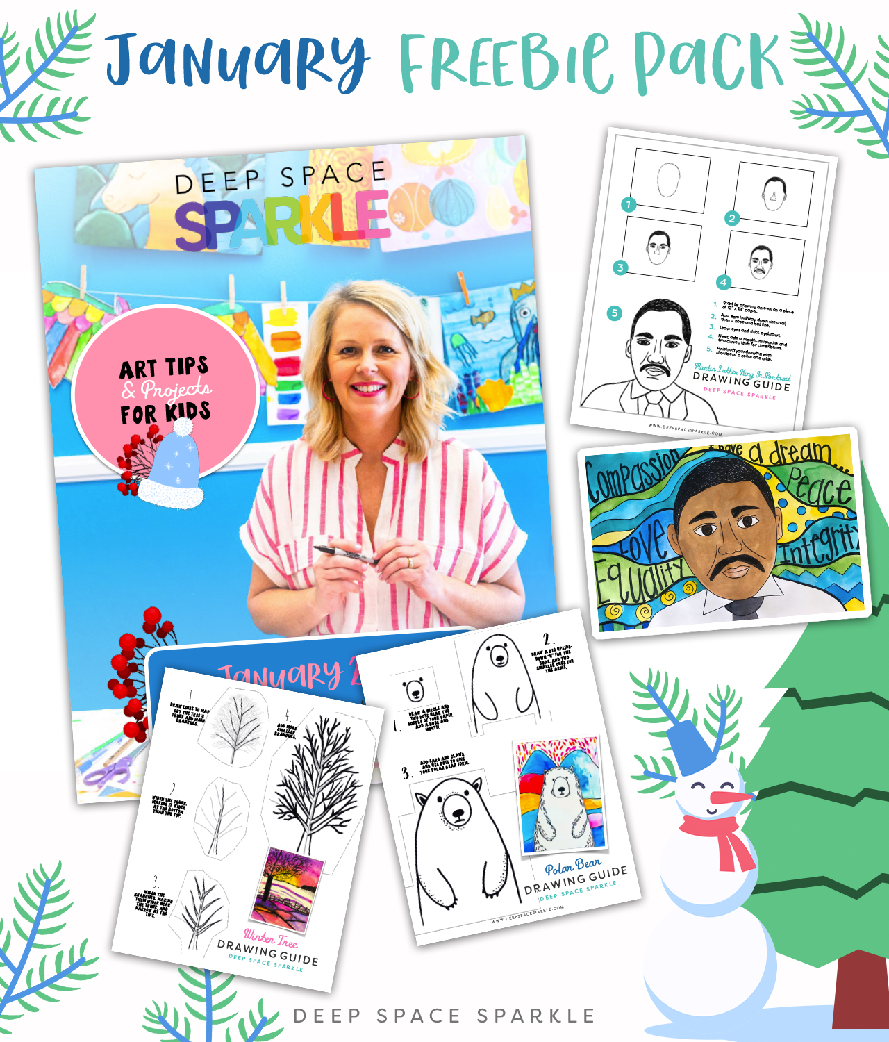 january freebie pack for art teachers free winter lessons handouts